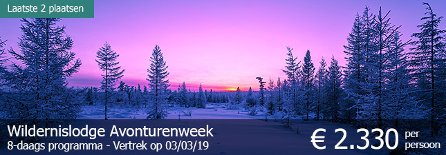 Wildernislodge Avonturenweek (8 dagen) - € 2.330