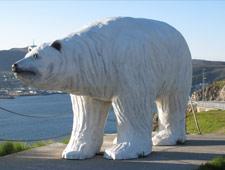 De ijsbeer is het symbool van Hammersfest, de meest noordelijke stad van Noorwegen