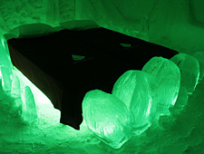 Eén van de unieke Ice Suites van het Snow Village