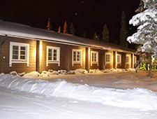 Onze lodge in Ruka, idyllisch gelegen aan de rand van het skidorpje