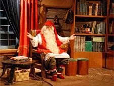 In het Santa Claus Village kan u een foto laten maken met de Kerstman