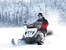 Na een korte instructieles vertrekt u op een sneeuwscootersafari