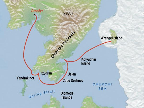 how to get to wrangel island