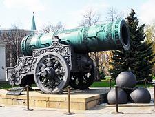 Het grootste kanon, 40.000 kg zwaar en een kaliber van maar liefts 89 cm. Gegoten uit brons in 1586 voor Tsaar Poesjka maar nooit gebruikt